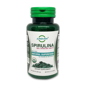 100% Spirulina 500 mg Tablets x 180 Count