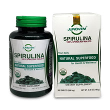 Load image into Gallery viewer, JUNOVEM Organic Spirulina, All Natural 100% Spirulina Tablets, Boosts Immune Function, Vegan, Superfood