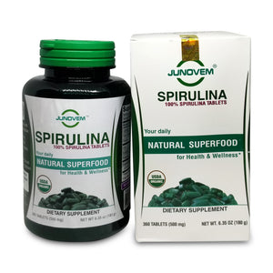 Pure Spirulina 500 mg Tablets x 360 Count