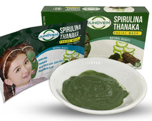 Load image into Gallery viewer, JUNOVEM Spirulina Thanaka Facial Mask Non-GMO Natural Skincare 5 Packs Face Mask