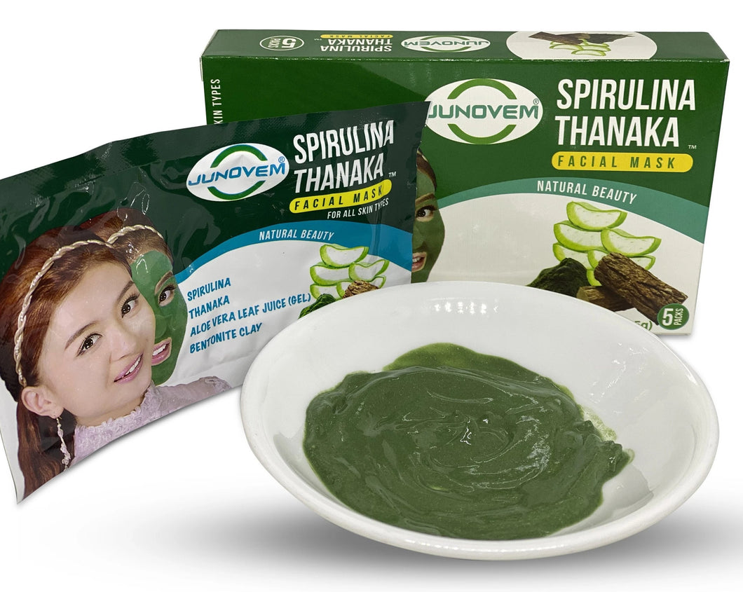 spirulina thanaka facial mask for natural skin care
