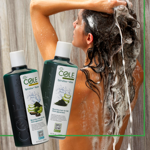 COLE Spirulina Shampoo, Spirulina, Aloe Vera, Tayaw, Hair Thickening Appearance, Naturally occurring Antioxidants, Phytonutrients for Men and Women