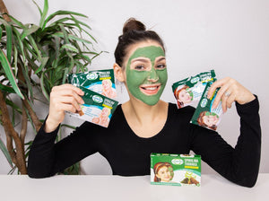 JUNOVEM Spirulina Thanaka Facial Mask Non-GMO Natural Skincare 5 Packs Face Mask
