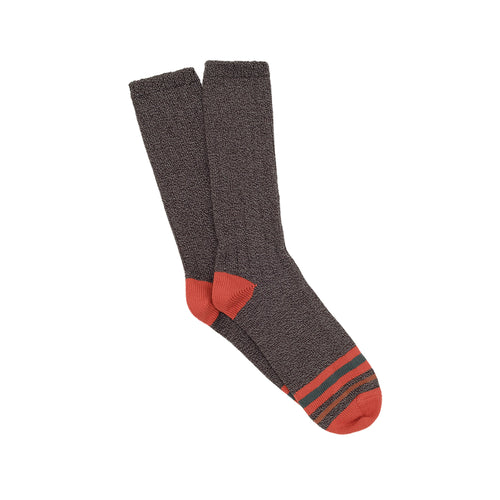 Corgi Striped Toe Pure Cotton Socks - Charcoal