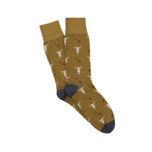 Corgi Desert Cotton Socks - Olive