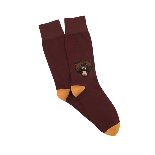 Corgi Angry Bear Cotton Socks - Port