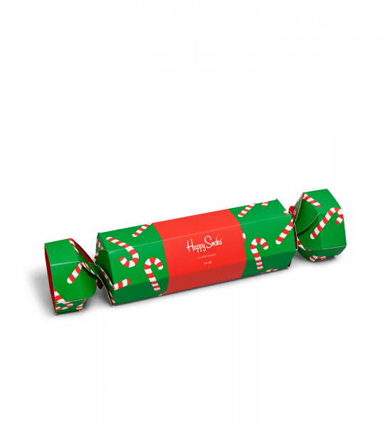 Happy Socks Candy Cane Christmas Cracker Gift Box