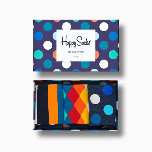 Happy Socks 3-Pack Mix Gift Box