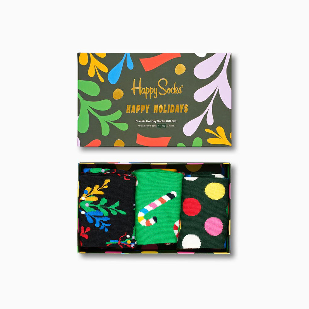 Happy Socks Holiday Gift Box (3-Pairs)
