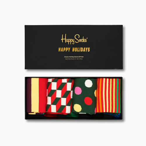 Happy Socks Holiday Gift Box (4-Pairs)