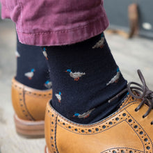 Corgi Duck Merino Wool Socks - Navy