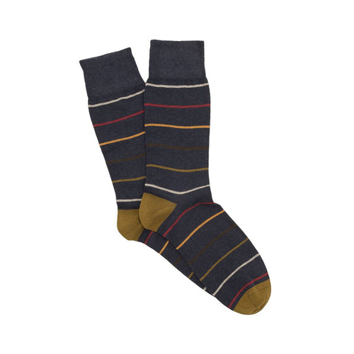 Corgi Multi Stripe Cotton Socks - Jeans