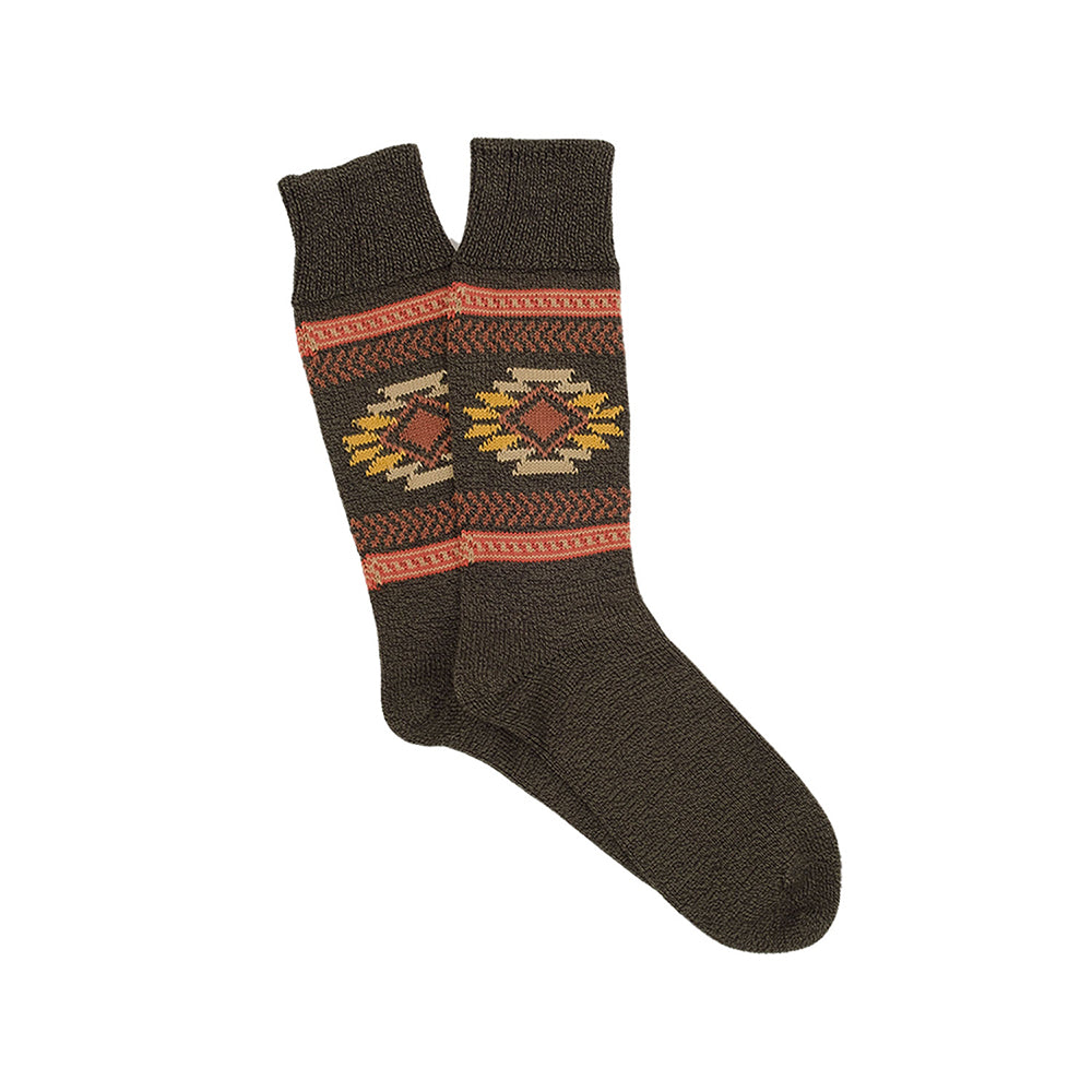 Corgi Navajo Pure Cotton Socks - Seaweed