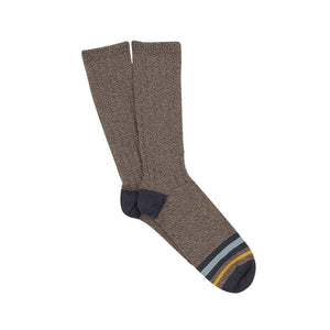 Corgi Striped Toe Pure Cotton Socks - Grey