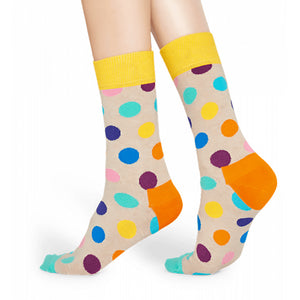 Happy Socks Big Dot Beige