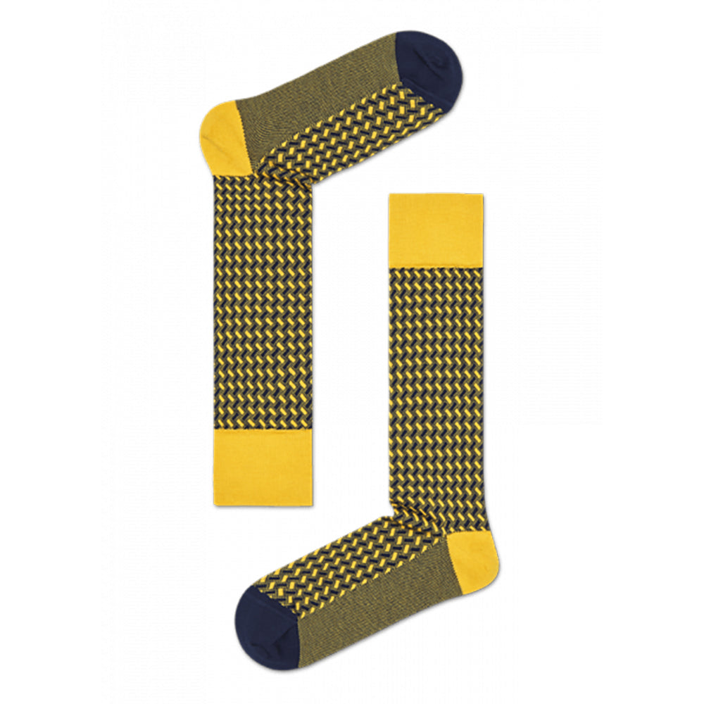 Happy Socks Dressed Basket Weave Yellow