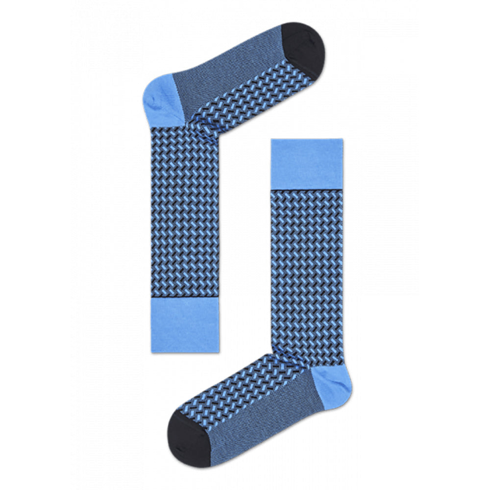 Happy Socks Dressed Basket Weave Blue
