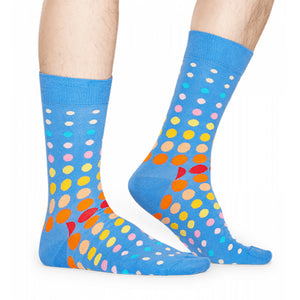 Happy Socks Faded Disco Dot Blue