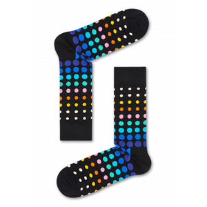 Happy Socks Faded Disco Dot Black