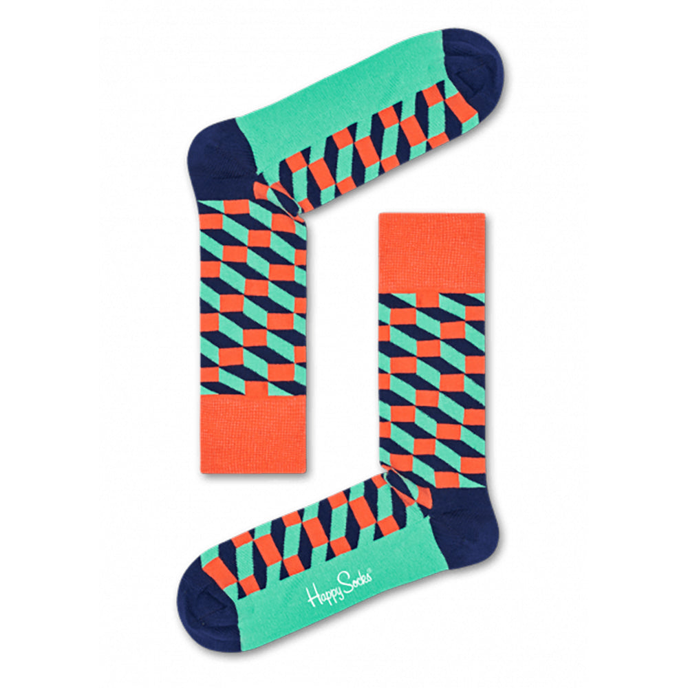 Happy Socks Filled Optic Orange