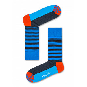 Happy Socks Half Stripe Blue
