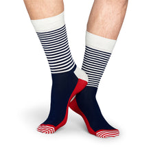Happy Socks Half Stripe Blue/White/Red