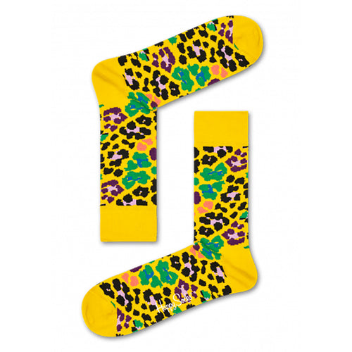 Happy Socks Multi Leopard Yellow