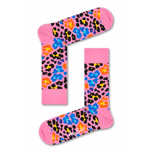 Happy Socks Multi Leopard Pink