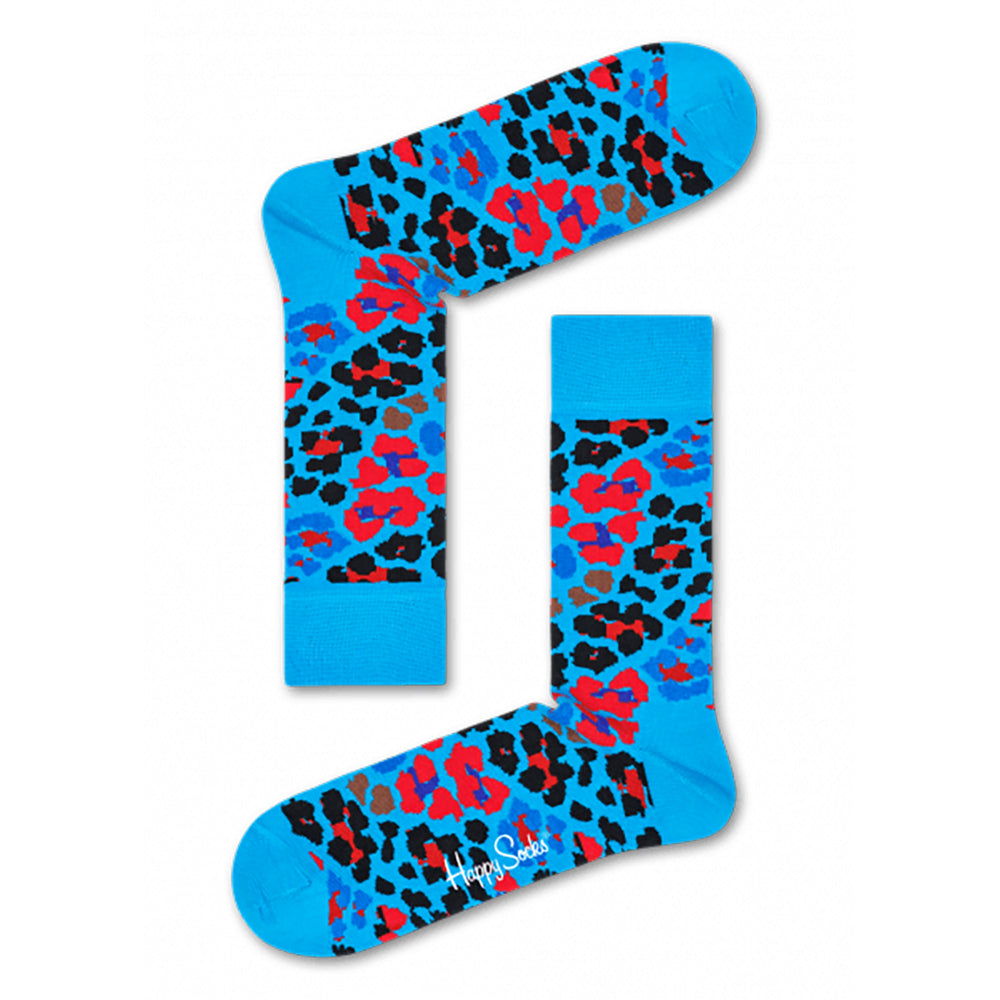 Happy Socks Multi Leopard Blue