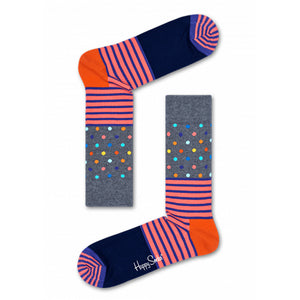 Happy Socks Stripes & Dots Grey