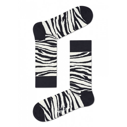 Happy Socks Zebra Black + White
