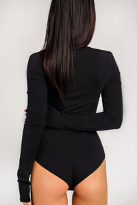 LONG SLEEVE BODYSUIT BLACK