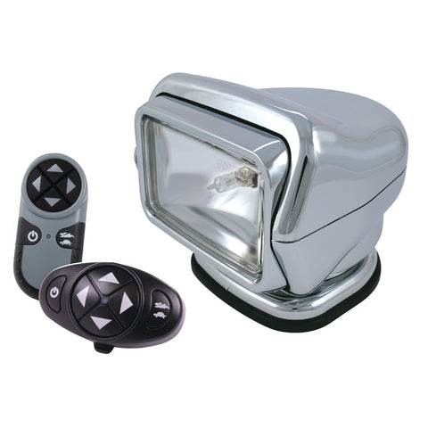 Golight Stryker Searchlight 12V w-Wireless Dash & Handheld Remote - Chrome [3066]