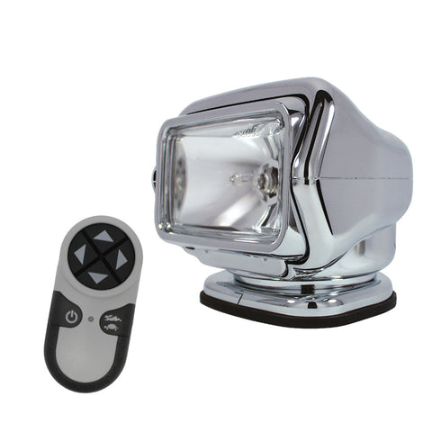 Golight HID Stryker Searchlight 12V w- Wireless Handheld Remote - Chrome [30061]