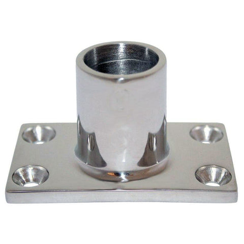 "Whitecap "" O.D. 90 Degree Rectangle Base SS Rail Fitting [6041C]"