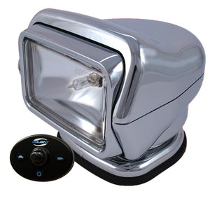 Golight HID Stryker Searchlight w-Wired Dash Remote - Permanent Mount - Chrome [30261]