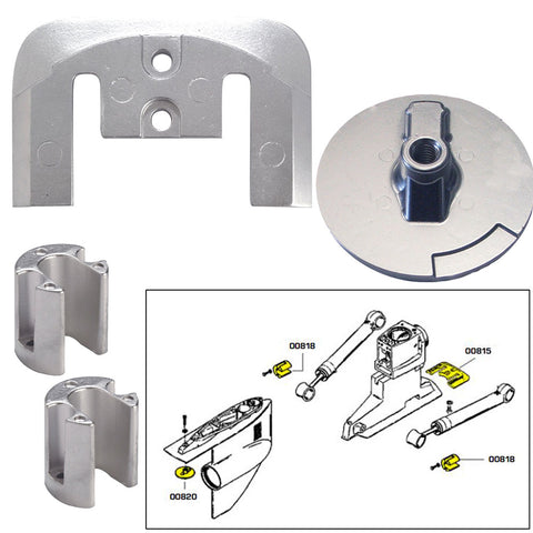 Tecnoseal Anode Kit w-Hardware - Mercury Bravo 2-3 up to 2003 - Magnesium [20804MG]