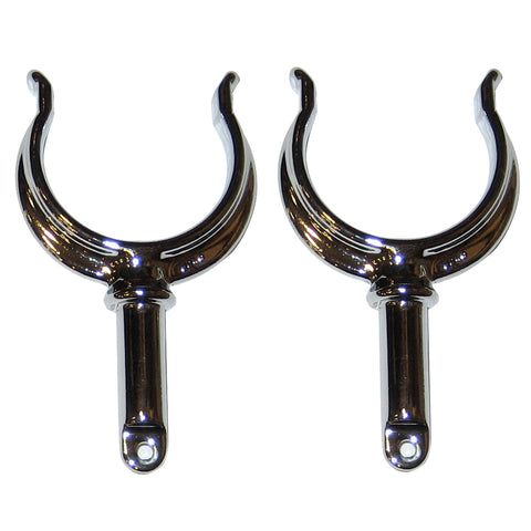 Perko Ribbed Type Rowlock Horns - Chrome Plated Zinc - Pair [1262DP0CHR]