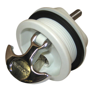 Whitecap T-Handle Latch - Chrome Plated Zamac-White Nylon - Locking - Freshwater Use Only [S-226WC]
