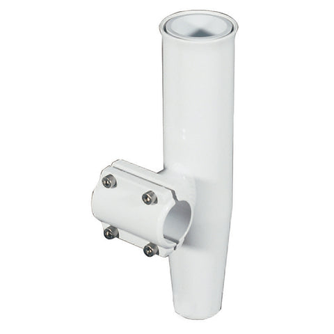 "Lee's Clamp-On Rod Holder - White Aluminum - Horizontal Mount - Fits 1.660"" O.D. Pipe [RA5203WH]"