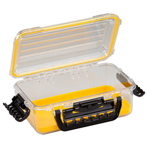 Plano Waterproof Polycarbonate Storage Box - 3600 Size - Yellow-Clear [146000]