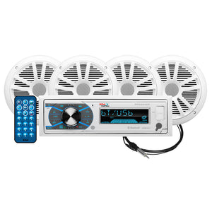 "Boss Audio MCK632WB.64 Package AM-FM Digital Media Receiver; 2 Pairs of 6.5"" Speakers  Antenna [MCK632WB.64]"