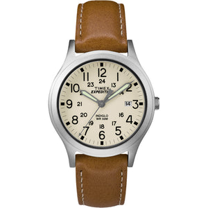 Timex Expedition Mid-Size Leather Watch - Cream Dial [TW4B11000JV]