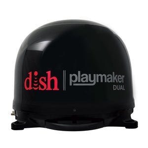 Winegard DISH Playmaker Dual Gen 2, Portable Satellite TV Antenna - Black Dome [PL-8035]