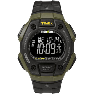 Timex IRONMAN Classic 30 41mm Full-Size Resin Strap Watch - Green-Black [TW5M24200JV]