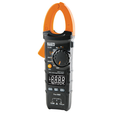 Klein Tools AC-DC Digital Clamp Meter - 400A Auto-Ranging [CL380]
