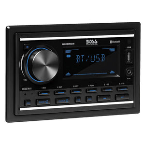 Boss Audio 810BRGB In-Dash Double-Din MP3-Compatible Digital Media AM-FM Receiver w-USB Charger  Multicolor Illumination Options [810BRGB]
