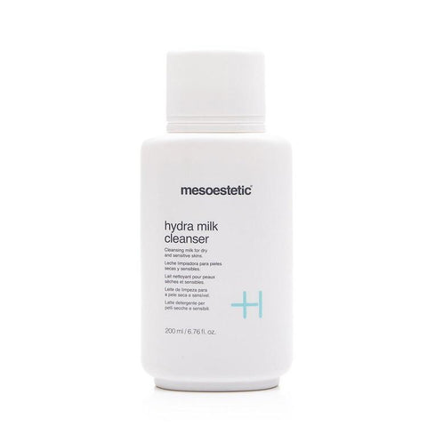 Cleanse with Mesoestetic Hydra Milk Cleanser