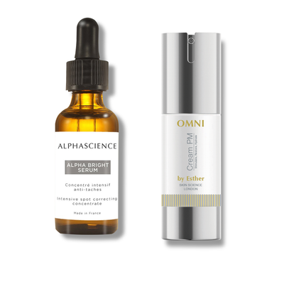 ALPHASCIENCE - Alpha Bright Serum and OMNI Cream PM by Esther DUO Set