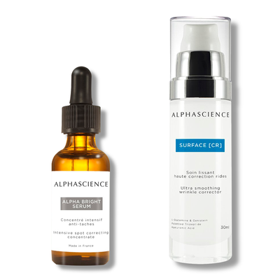 Alpha bright serum and surface cr by ALPHASCIENCE set